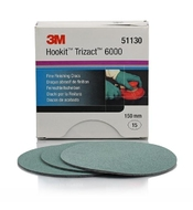 3M 51130 Fine Finishing Discs Hookit Trizact P6000/150mm